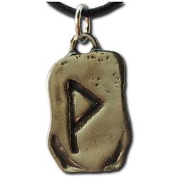 Rustic Wunjo Pewter Rune Pendant