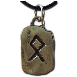 Rustic Odal Pewter Rune Pendant
