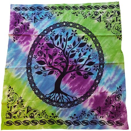 Tree of Life Tie Dye Altar Cloth