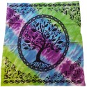 Tree of Life Tie Dye Altar Cloth