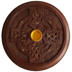 Celtic Cross Incense Burner Plate