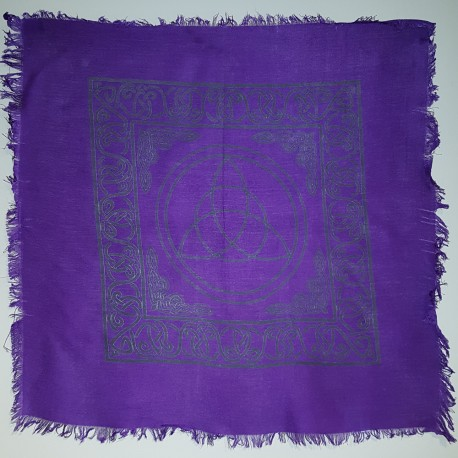 Purple Triquetra Altar Cloth, 18""