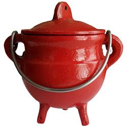 Classic Cauldron w/Lid, Red