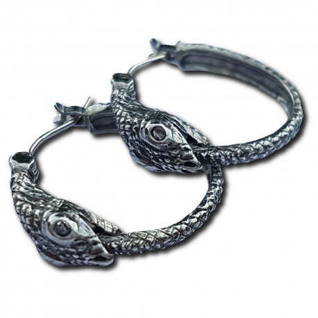 Jormungandr Earring Pair, Antiqued