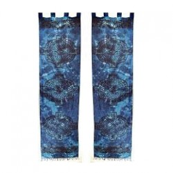 Blue Celtic Knotwork Curtains
