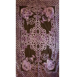Purple Knotwork Tapestry