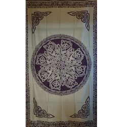 Green Celtic Knotwork Tapestry