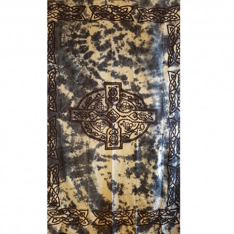 Blue Celtic Cross Tapestry