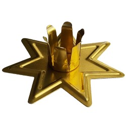 Fairy Star Chime Candle Holder Gold