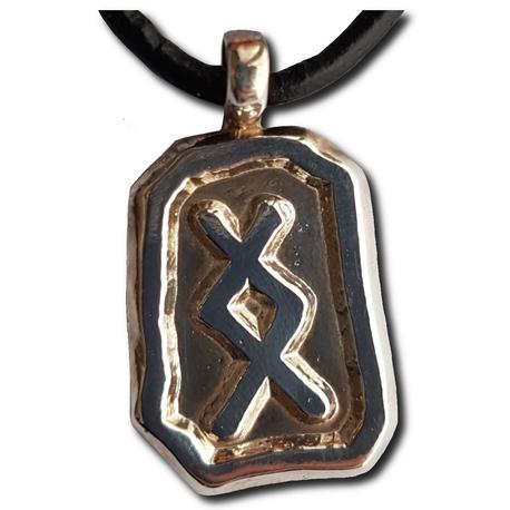 Inguz Pendant Without Beads
