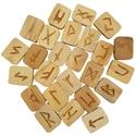 Wooden Elder Futhark Runes