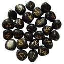 Black Agate Elder Futhark Runes
