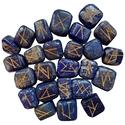 Blue Lapis Elder Futhark Runes