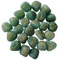 Green Aventurine Elder Futhark Runes