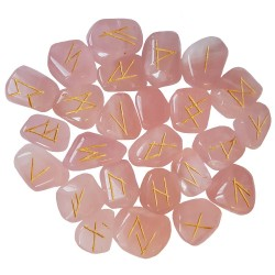 Rose Quartz Elder Futhark Runes