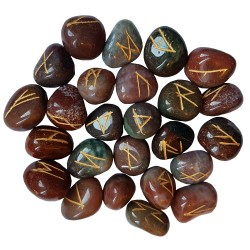 Fancy Jasper Elder Futhark Runes