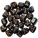 Black Jasper Elder Futhark Runes