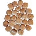Cream Moonstone Elder Futhark Runes