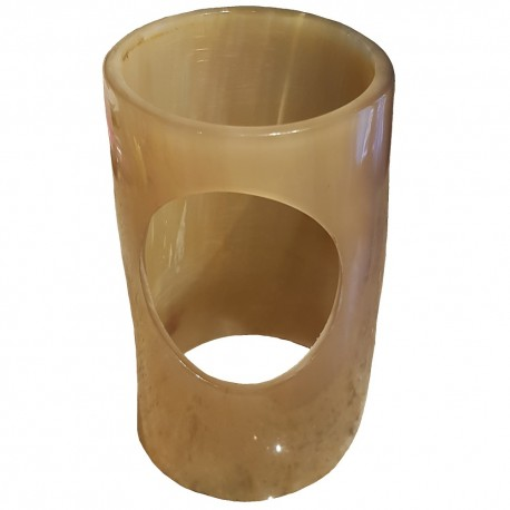 Horn Drinking Horn Stand viewed from a top angle to show both openings