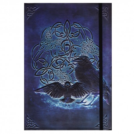 Celtic ravens journal front cover details.