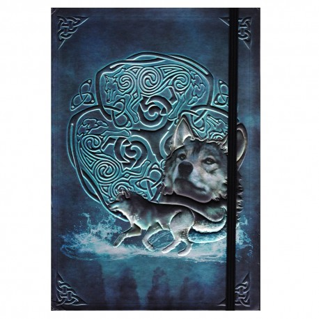 Celtic Wolf Journal front cover details.