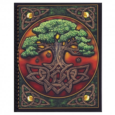 Colored Yggdrasil Journal front cover details.