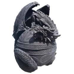 The Fafnir box feature the fierce dragon perched on a storage orb covered in Celtic knotwork.
