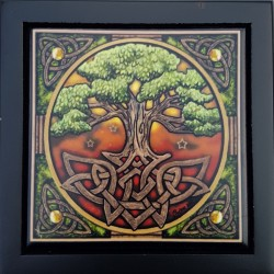 The lid of the Yggdrasil box features the tree of life artwork by Lisa Parker.