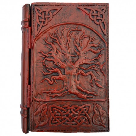 The resin Yggdrasil book box features a raised image of Yggdrasil on the cover.